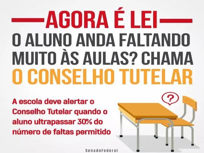 Resultado de imagem para Escola deve notificar conselho tutelar se o aluno ultrapassar 30% de faltas